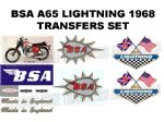 BSA A65 Transfer and Decal Sets